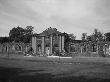 Letchworth Village Stewart Hall (after the fire in late 2006)
